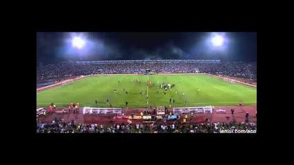 Сърбия-албания.прекратен мач от квалификациите за Евро 2016.