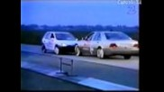 Crash test Opel Corsa vs Mercedes
