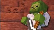 Миньорски зомбита - Minecraft анимация