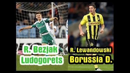 #1 Haxball ! Лудогорец vs Борусия Дортмунд | Роман Безяк 9 vs Робърт Левандовскиi 9 |
