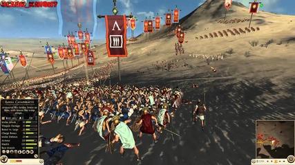 Rome 2: Total War Online Battle #023: Armenia, Baktria & Rome vs Carthage, Sparta & Macedon