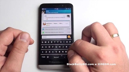 Blackberry Z30 Видео ревю - Keyboard