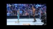 Sin Cara attacks Jack Swagger 4/8/2011