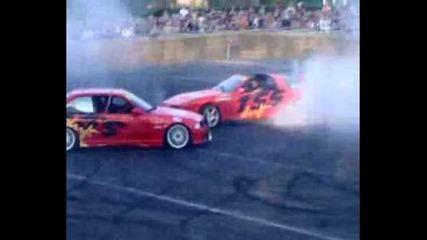 Toyota Supra vs Bmw M3 burnout Maxi Tuning 2006 Circuit Catalunya