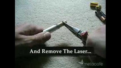 Как да си направим мощен лазер