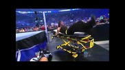 Jeff Hardy - Swanton Bomb on stretcher