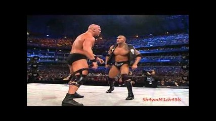 The Rock Vs. Stone Cold Steve Austin Highlights - Hd Wrestlemania 19