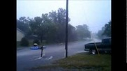 Tropical Storm Debby / Spring Hill / Fl 6/24/2012 / Road Turns into White Water Rafting