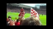 Манчестър Юнайтед 2 - 1 Челси Видич Гол *hq* От Трибуните!