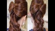 Красива сватбена Инструкция косата Bow
