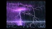 Rain and thunder strom relax