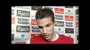 Robin Van Persie & Theo Walcott Interviews- Arsenal Vs Tottenham 5-2