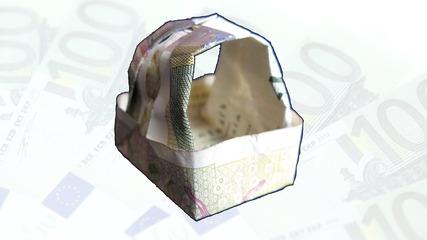 Как да си направим оригами кошница от 10 лева