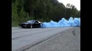 Blue Rolling Burnout 1988 Iroc