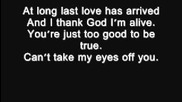 I love you baby - Frank Sinatra lyrics