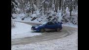 Матей Жагар Impreza сняг дрифт