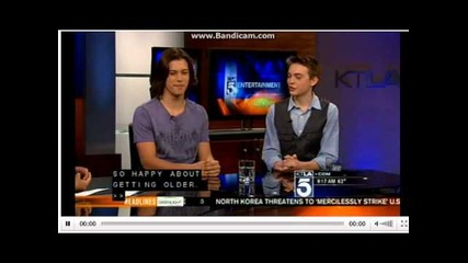 Ktla Interview with Leo & Dylan from Kickin It