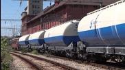 44 108 и 45 163 с товарен влак заминават от Каспичан