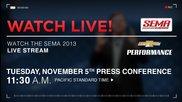 Sema 2013 Trade Show: Chevrolet Performance Press Conferen