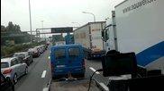 Задръстване в Антверпен - Traffic jam in Traffic jam in Antwerpen