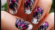Hot Pink Nail Цветя За начинаещи