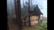Как се строи дървена къща насред гората