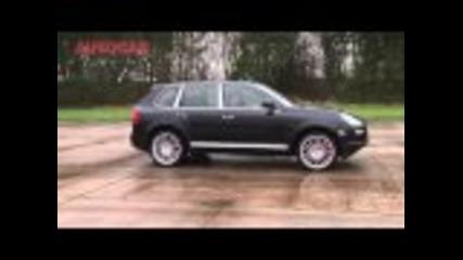 Porsche Cayenne v Bmw X6 M v Infiniti Fx v Range Rover race