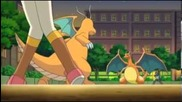 Ash's Charizard Returns - Iris' Dragonite Vs. Ash's Charizard