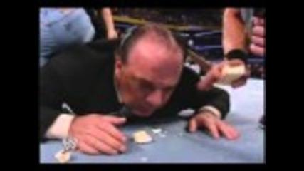 John Cena & Chris Benoit (with soap ) Embarass & Destroy Paul Heyman Smackdown - 1-15-2004