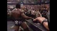 Rhyno & Booker T vs Chris Jericho & The Rock part 2