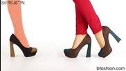 Обувки с нестандартен ток от Кокетна