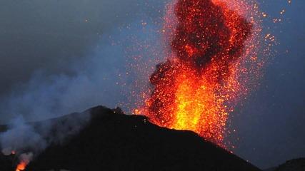 Мощта на природата-изригването на Стромболи