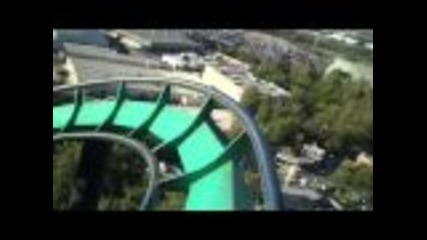 Six Flags Riddler's Revenge Rollercoaster Point Of View