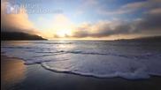 Golden Waves Crashing Screensaver Study Aid Meditation Aid