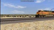 Bnsf влак в играта Railworks 4