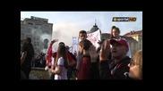 """""""червено"""" море заля парламента - протест на феновете на Цска!"""