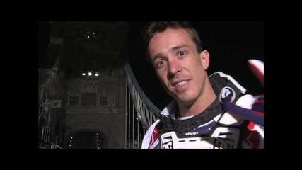 Robbie Maddison backflips the Tower Bridge in London