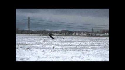 Snowkite на полето в София Люлин с Gopro