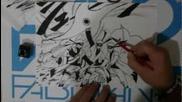 How to draw Naruto Sage mode with Rasenshuriken
