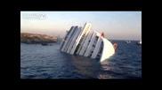 Costa Concordia affonda,, Naufragio, Incidente, Isola Del Gigliolo scafo visto da vicino