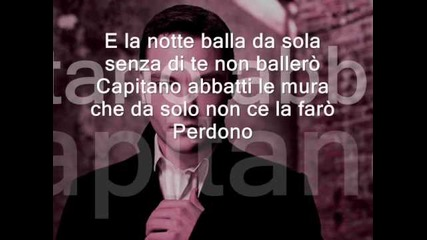 Perdono tiziano ferro lyric (learn italian singing)