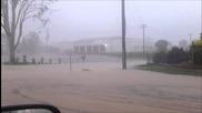 Пороен дъжд и наводнение в Гатън, Австралия 22.1.2014
