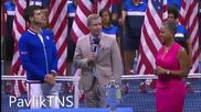 Novak Djokovic vs Roger Federer - Us Open 2015 Final - Ceremony Hd