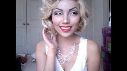 Момиче се преобразява в Marilyn Monroe