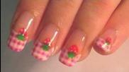 Ягода Pink памучен плат на райета нокти Инструкция