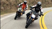 Ducati Streetfighter S vs Aprilia Tuono V4r: Naked Bike Shootout! - On Two Wheels Episode 8