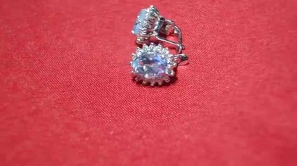 обеци с диаманти и аквамарин Kirkorian Diamonds