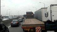Задръстване в Антверпен - Traffic jam in Antwerpen 2