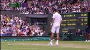 Novak Djokovic-roger Federer Wimbledon 2015