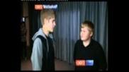 Justin Bieber Meets Casey Heynes (bully Hero) - Tv Interview